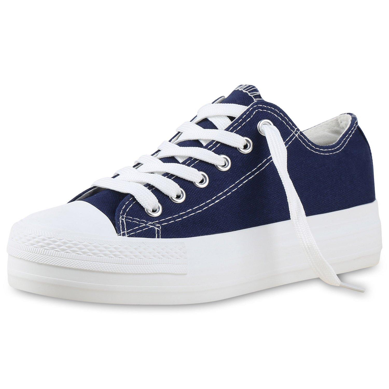 napoli-fashion Damen Plateau Sneakers 90s Style Sportschuhe Freizeit Damen Sneakers Blau Denim Plateau 40 Jennika NyrOjVYQ