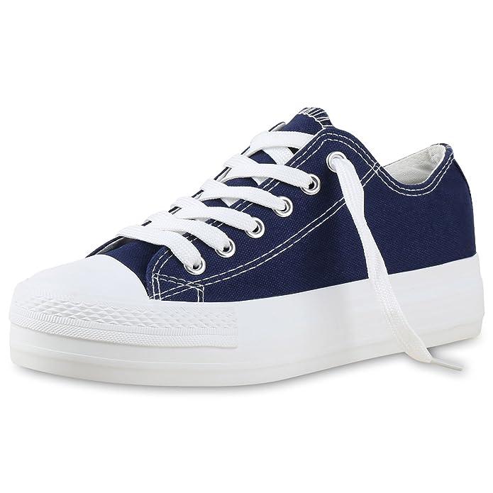 napoli-fashion Damen Plateau Sneakers 90s Style Sportschuhe Freizeit Damen Sneakers Blau Denim Plateau 38 Jennika 6P8kecU