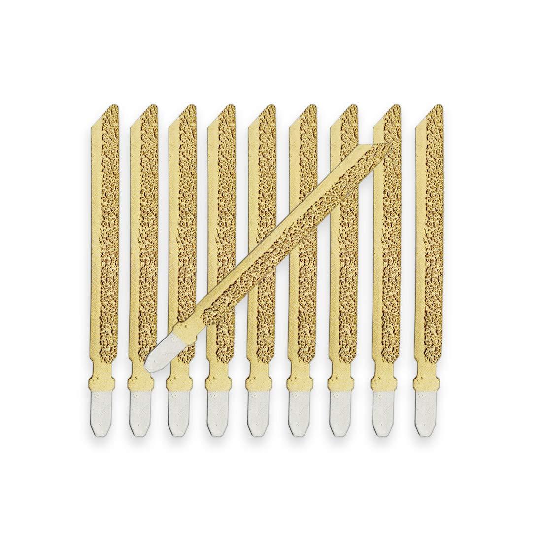 SHDIATOOL Diamond Jig Saw Blades for Granite Marble Ceramic Tile Brick Plastic 10pcs 4 inch/100mm High Professional Quality Vacuum Brazed Cutting Disc by SHDIATOOL