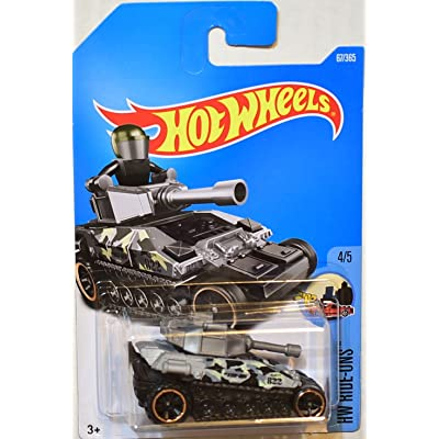 2020 Hot Wheels Hw Ride-Ons 4/5: Tanknator [Silver/Black]: Toys & Games