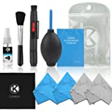 CamKix Professional Camera Cleaning Kit for DSLR Cameras- Canon, Nikon, Pentax, Sony - Cleaning Tools and Accessories (with Optical Lens Cleaning Fluid, Camera Cleaning Kit for DSLR Cameras)