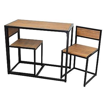 Amazon.de: Platzsparender und kompakter Küchen-Esstisch und Stühle ... | {Küchen mit esstisch 38}