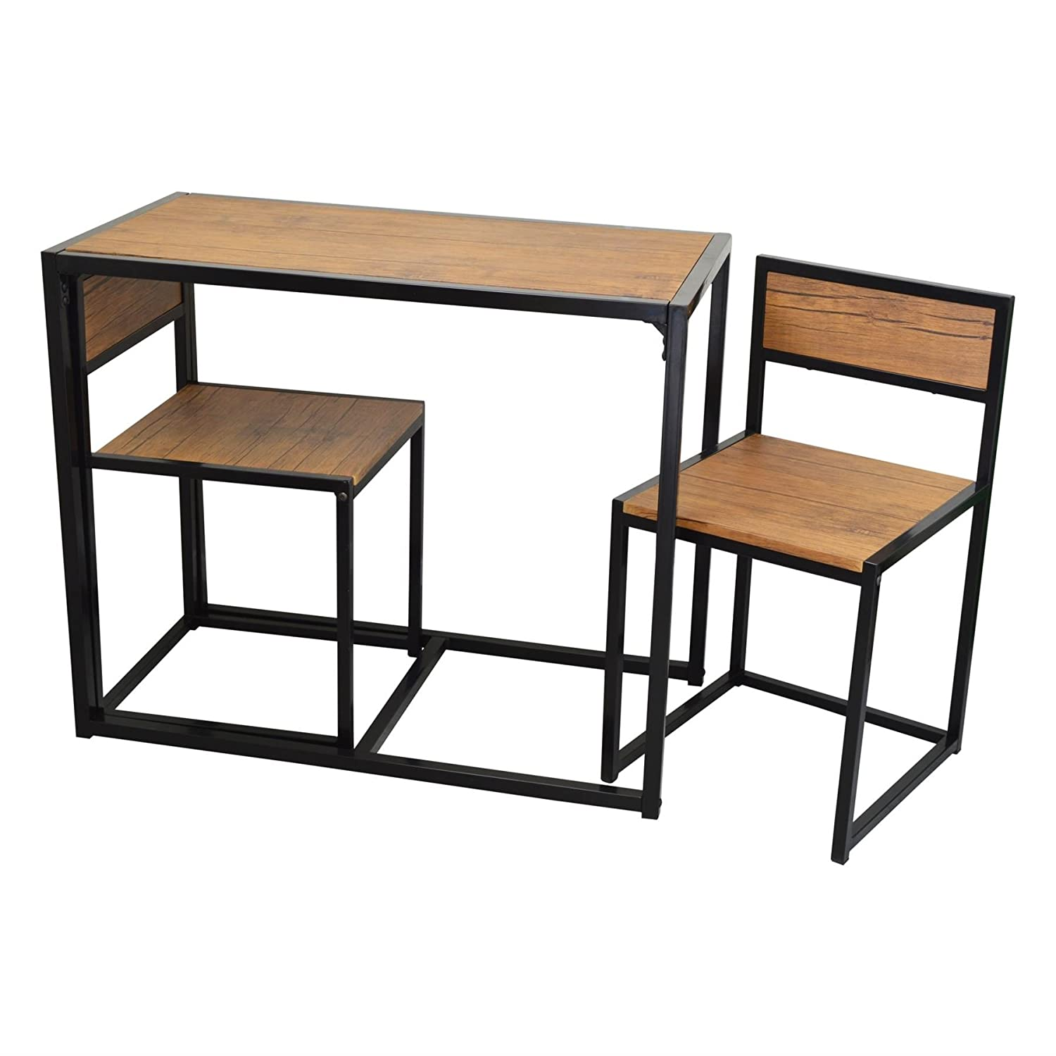Compact Dining Table And Chairs: Dining Table And 2 Chairs Set Small Kitchen Space Saver