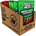 Mixed Flavour Mild & Hot Mini Peps, Pepperoni Sticks Bulk Box, Pepperettes Bundle 10 x 225g Bags by Great Canadian Meat, Meat