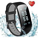 Tracker d'Activité Cardiofréquencemètre, Showyoo Montre Connectée IP67 Etanche Bracelet Sport Podomètre Calorie Smartwatch pour Enfants Femmes Hommes