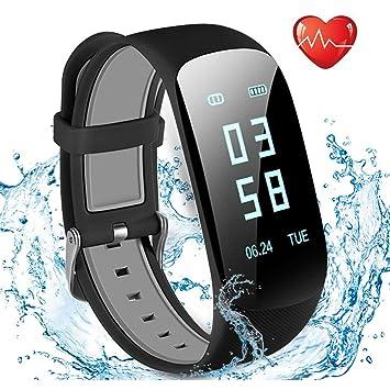 Tracker dActivité Cardiofréquencemètre, Showyoo Montre Connectée IP67 Etanche Bracelet Sport Podomètre Calorie Smartwatch