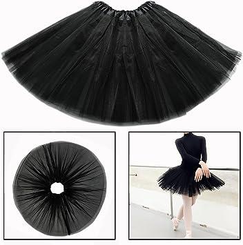 OFKPO Niñas Falda de Tul de Ballet Infantil de Negro Disfraz ...