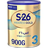 Wyeth Nutrition S26 Progress Gold Stage 3, 1-3 Years Premium Milk Powder for Toddlers with Nutrilearn System, 900gm - (Pack of 1)