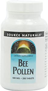Source Naturals Bee Pollen 500 mg Dietary Supplement - 250 Tablets