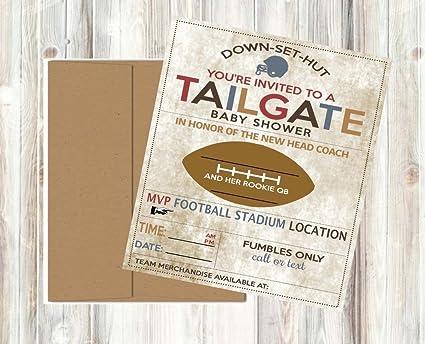 Amazon Com Vintage Retro Tailgate Football Baby Shower Invitations