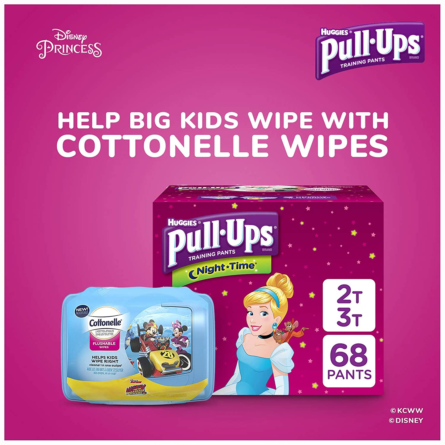 44 Ct. Pull-Ups Night-Time Potty Training Pants for Girls 32-40 lb. Packaging May Vary 3T-4T