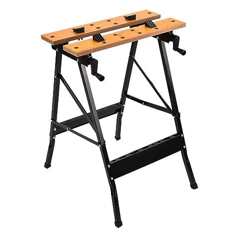Superb SUNCOO Folding Work Table/Bench Portable Garage Workbench 220 Lb Capacity