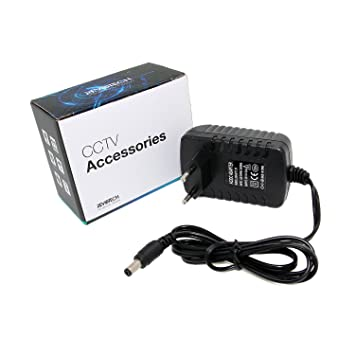 Revotech® - Adaptador de corriente del enchufe de alimentación EU Tipo de adaptador DC 12V 2A CCTV cámara de seguridad de energía EU (Negro): Amazon.es: ...