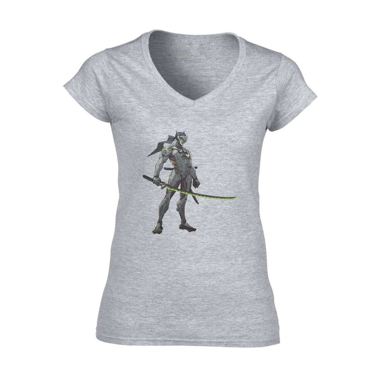 Overwatch Video Game Genji Sword Ninja Green XXL Mujer V ...