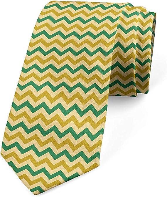 Corbata, líneas coloridas tradicionales, bosque verde pálido café ...