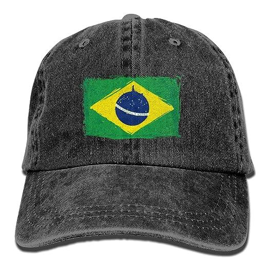 Amazon.com  Adjustable Baseball Caps Brazilian Flag Cowboy Style ... 88ea808a53b
