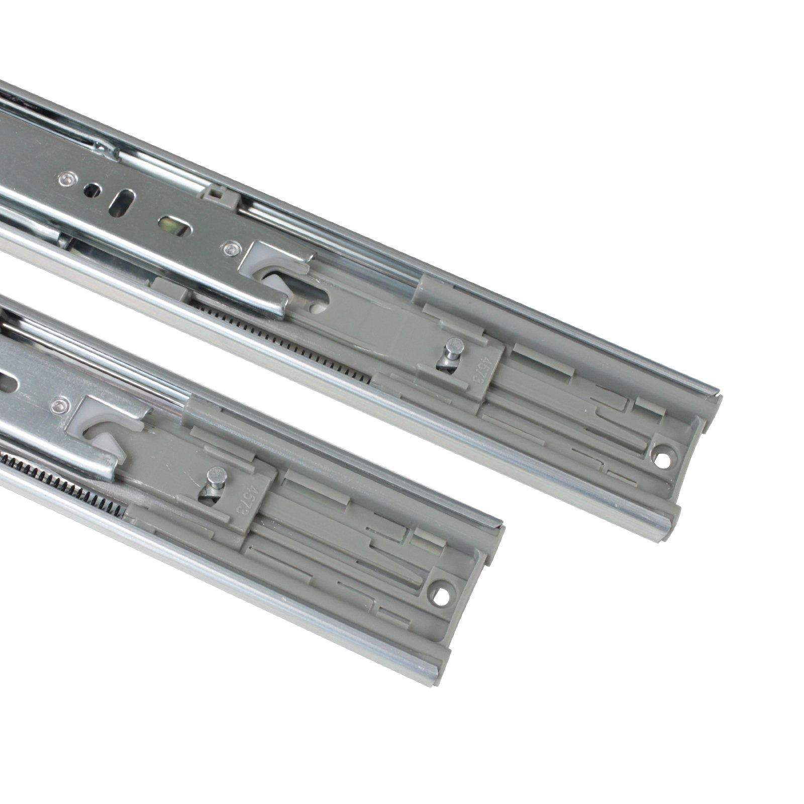 Gobrico Rear/Under Mounting Drawer Slides With Brackets Soft Closing Ball Bearing 100 Lb Glides Runners Full Extension 22in 5Pairs by Gobrico (Image #4)