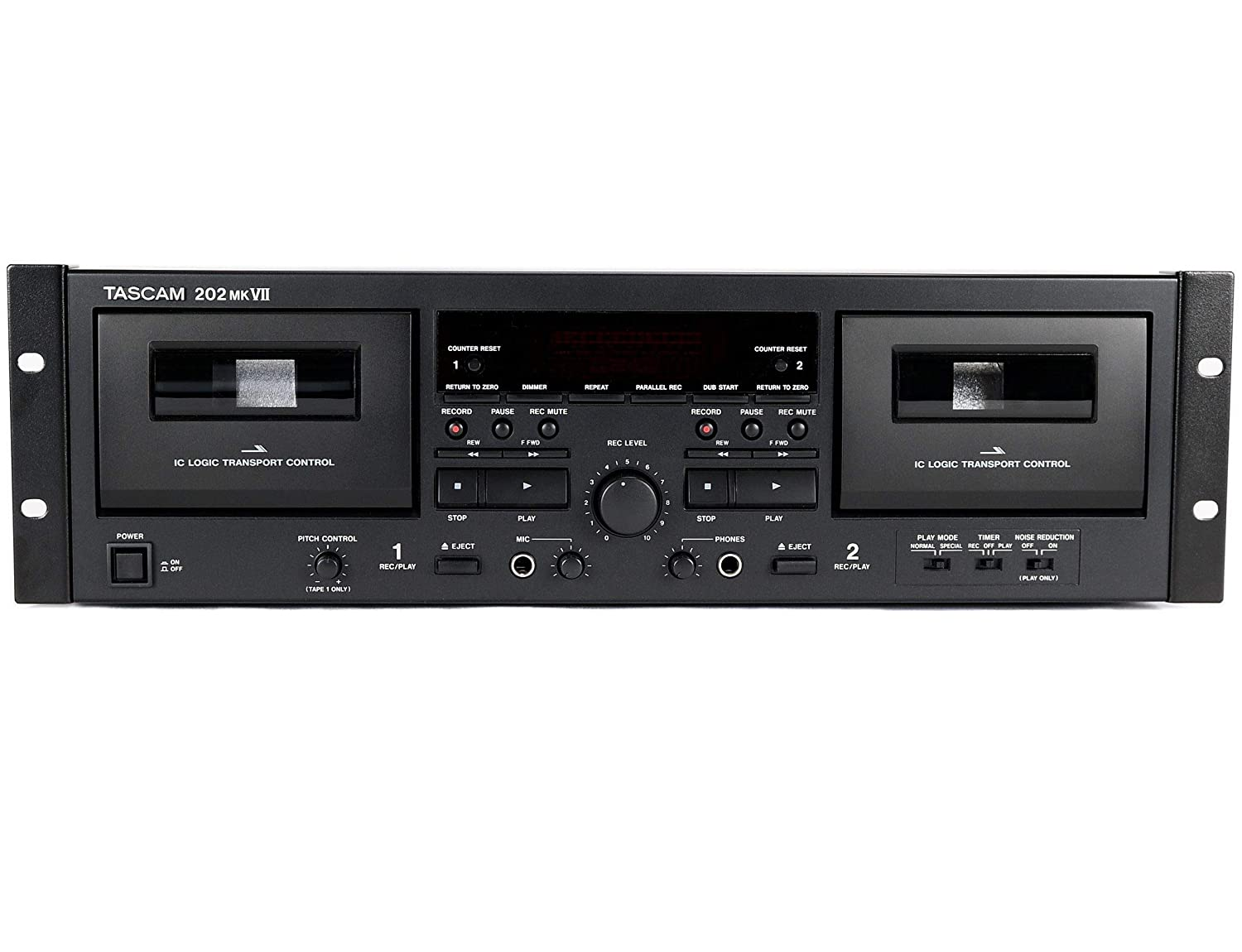 Amazon.com: Tascam 202MKVII Double Cassette Recorder Deck with USB Port: Musical Instruments