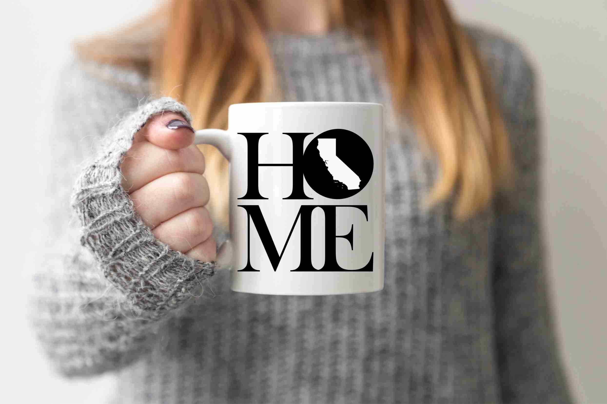 California Mug State Mug Coffee Mug Home Mug Homesick Gift Personalized Mug Custom Mug No Place Like Home Boyfriend Gift Valentines Day Gift