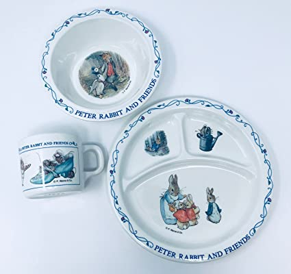 Beatrix Potter Peter Rabbit and Friends 3 Piece Set  sc 1 st  Amazon.com & Amazon.com | Beatrix Potter Peter Rabbit and Friends 3 Piece Set ...