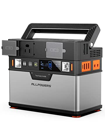 ALLPOWERS Portable Power Station Portable Generator 372Wh 105000mAh Emergency Power Supply with DC AC Inverter, PD Technology, Wireless Output, Charged by Solar Panel Wall