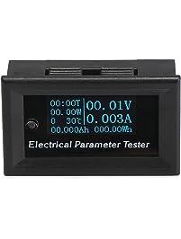 """DC Voltmeter Ammeter Panel, DROK 0.96"""" OLED Display Digital Multimeter DC 0-33V 3A 0-99h59min 99W -15℃~60℃ Run Time..."""