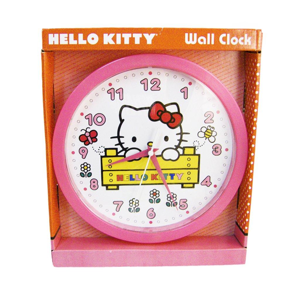 Amazon.com: (2012) HELLO KITTY Kids Decorative Analog Wall Clock: Home & Kitchen