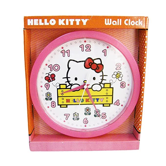 Amazon.com: (2012) HELLO KITTY Kids Decorative Analog Wall Clock: Home & Kitchen