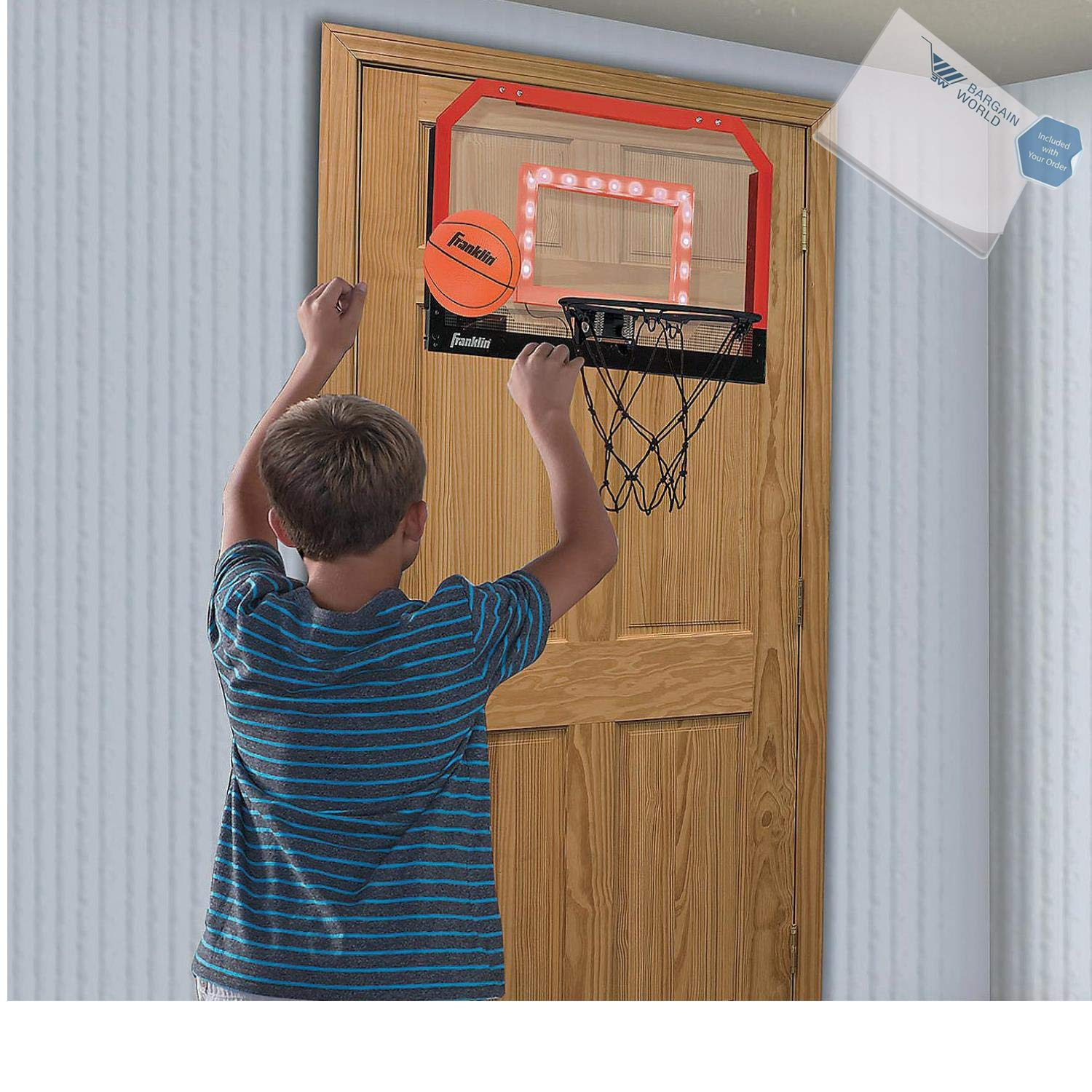 Bargain World Light-Up Pro Hoops Basketball Game (With Sticky Notes)