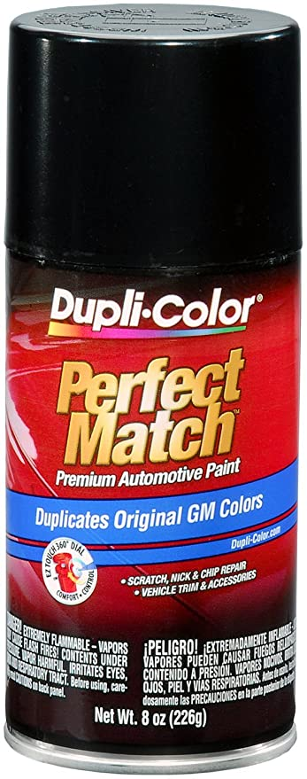 Dupli-Color BGM0381 Black Metallic General Motors Exact-Match Automotive  Paint - 8 oz  Aerosol