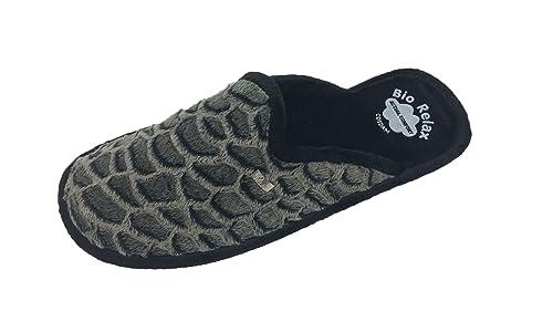 Zapatilla de Estar por casa/Biorelax/Hombre/Mod/Tortuga/Material Suapel/Suela Goma/Cámara de Aire/Talla 46: Amazon.es: Zapatos y complementos
