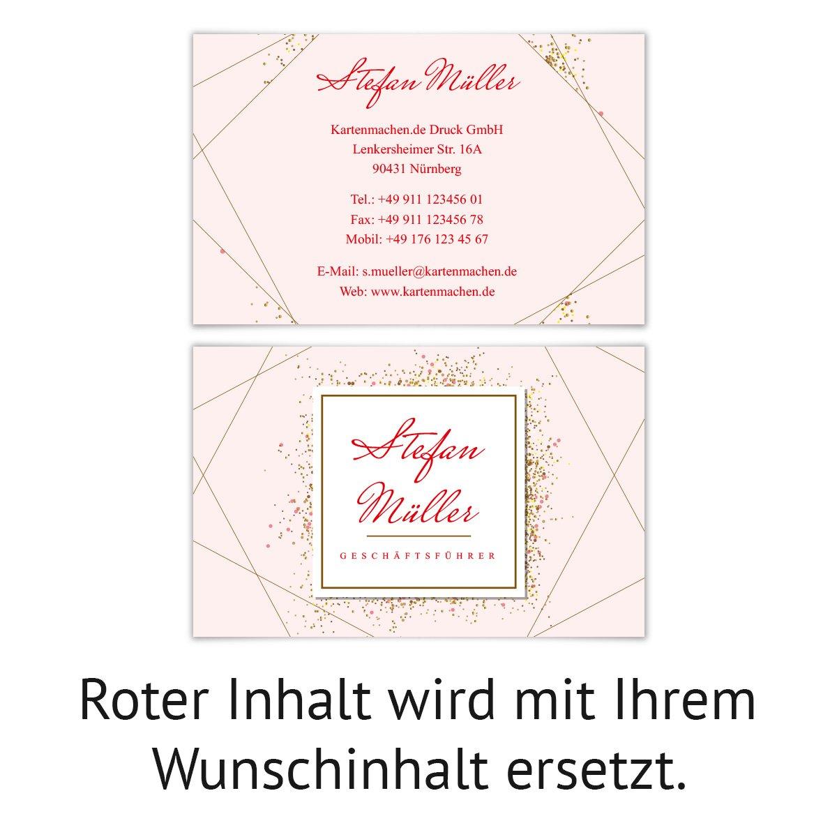 20 x Visitenkarten individuell Business Karten 300g//qm 85 x 55 mm Stylingberater