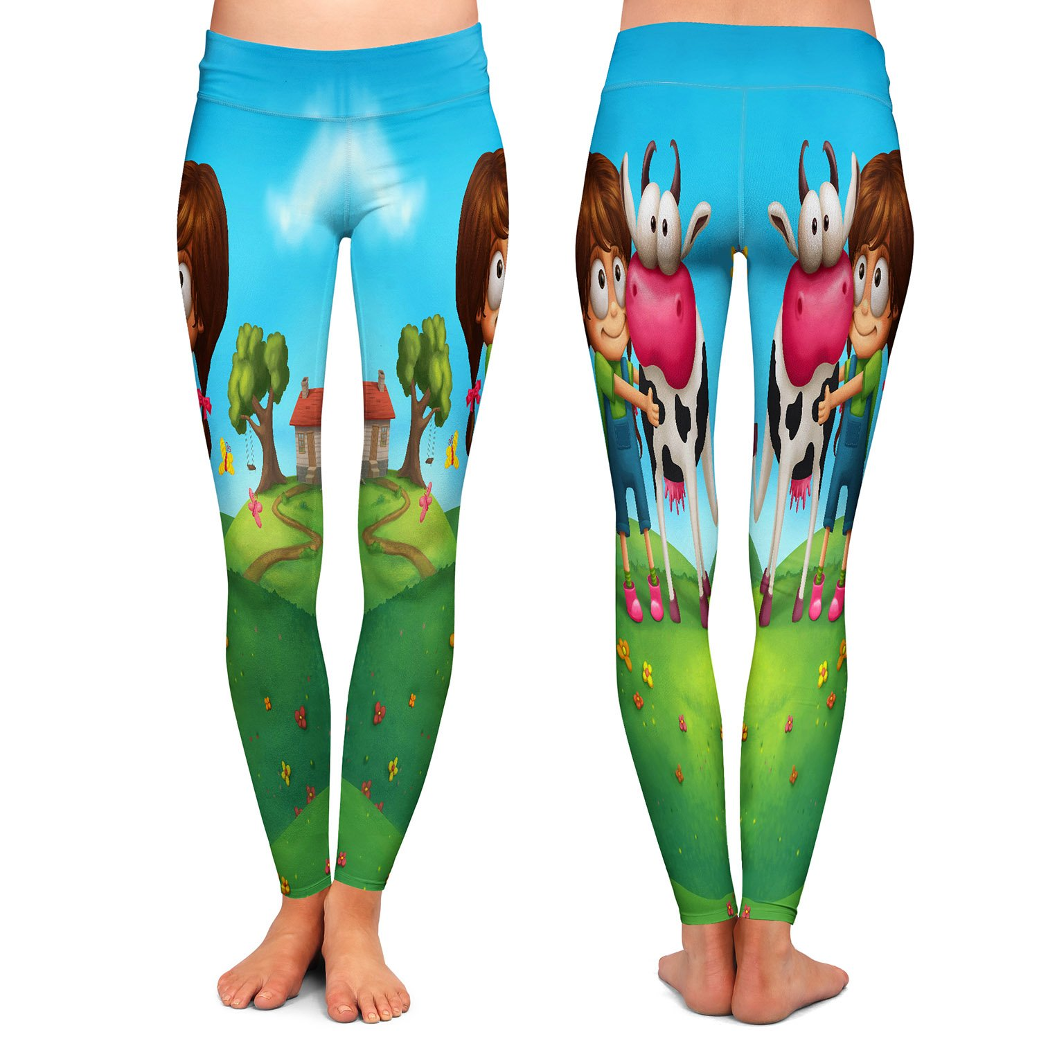 My Moo Athletic Yoga Leggings from DiaNoche Designs by Tooshtoosh