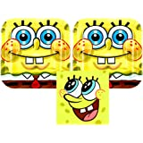 Spongebob Squarepants Party Pack for 16 Guests - 16 Dessert Plates and 16 Beverage Napkins