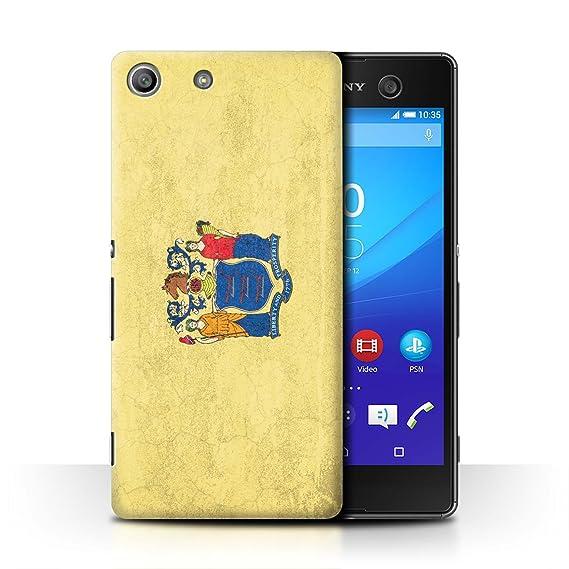 the best attitude 1f7ae ca05b Amazon.com: STUFF4 Phone Case/Cover for Sony Xperia M5 / New Jersey ...