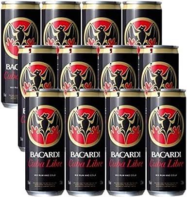 Bacardi Ron Carta Blanca y Cola - Pack de 12 x 330 ml - Total ...