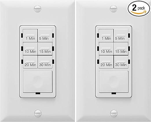 In Wall Timer Switch Enerlites Fan Switch Timer Countdown Timer Switch Light Timer Switch Bathroom Timer Switch 1 30 Min Night Light Led