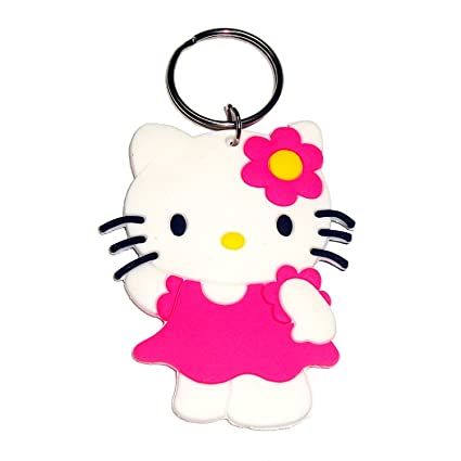 af4552cf7 GCT Double Sided Hello Kitty Cartoon Movie Character Rubber Unisex  Keychain(White/Pink): Amazon.in: Bags, Wallets & Luggage