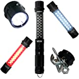 Viisliam Deluxe 4-in-1 LED Flashlight, Work Light, Strobe Light & Magnetized Base