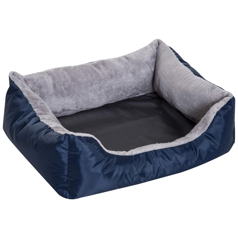 PawHut Cama para Perro Gato Lavable Almohada Felpa Extraíble Reversible Nido Mascota Cómoda Casa 75x60x20cm Tela Oxford Durable: Amazon.es: Jardín