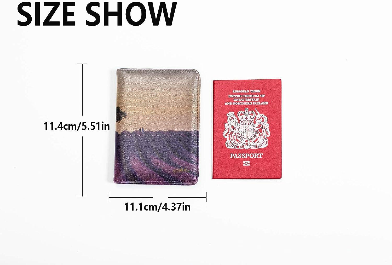 Leotruny Passport Holder Cover Dreamy Nature Landscape Sunset Sky Cute Passport Case Multi Purpose Print Passport Case Cover Travel Wallets For Unisex 5.51x4.37 Inch
