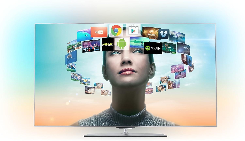 Philips 55PFS8159 55 Full HD Compatibilidad 3D Smart TV WiFi Plata - Televisor (Full HD, 802.11n, A+, 16:9, 1080p, Cromo): Amazon.es: Electrónica