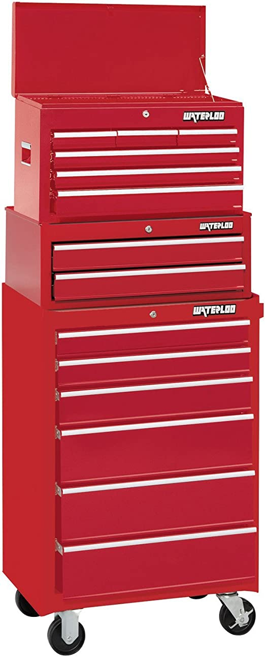Waterloo Wch 266rd 26 Tool Chest With Ball Bearing Slides Red Amazon Ca Tools Home Improvement