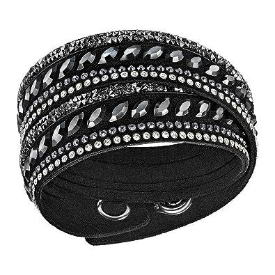 82c06d3750086 Swarovski Black Pulse Slake Bracelet