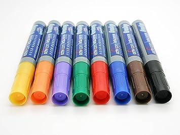 8x Rotuladores de colores Borrables para Pizarra blanca ...