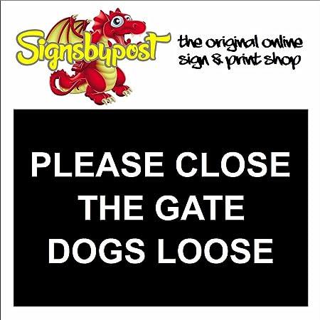 Por favor cierre puerta perros suelto impermeable señal 5585 ...