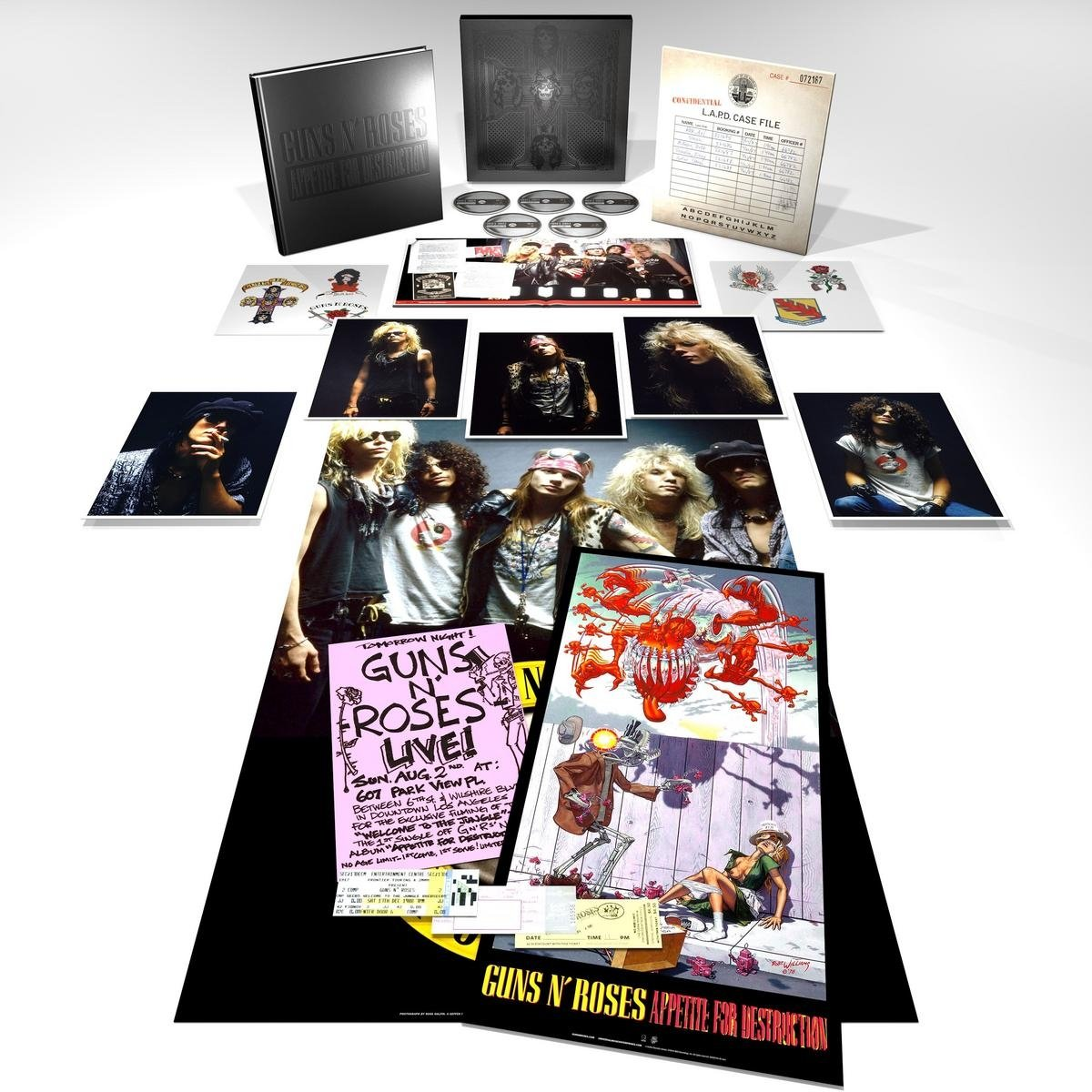 CD : Guns N Roses - Appetite For Destruction (With Blu-Ray Audio, Deluxe Edition, Boxed Set, 5PC)