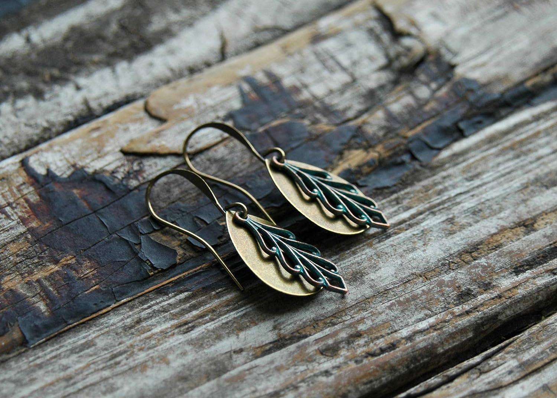 Tribal Bohemian Dangle Earrings for Women Hypoallergenic Brass Earrings for Sensitive Ears