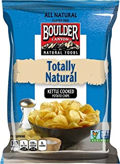 product image for Boulder Canyon Kettle Cooked Potato Chips, Totally Natural, 2 Ounce (Pack of 24)