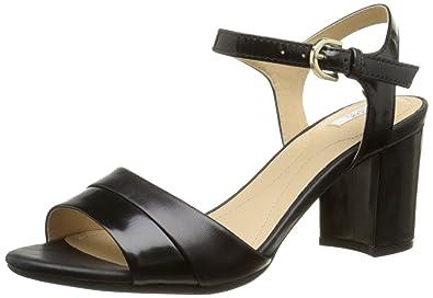 GEOX Sandale femme noir Livraison Gratuite | Spartoo